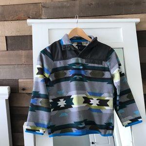 GAP Kids Aztec Snap Fleece Jacket